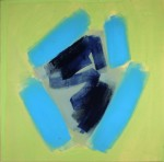 """Blue Energy"", Acrylic on canvas, 27.5 x 27.25in., $775"