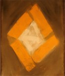 """Brilliant Orange,"" Acrylic on canvas, 31.5 x 26.5in., $825"