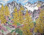 """Heather Pass"", Oil on canvas, 38 x 48in., $4,100"