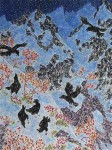 """Ravens Above Brandywine Meadows"", Oil on canvas, 40 x 30in., $2,700"