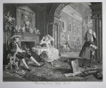"William Hogarth, ""Marriage a la Mode, plate II"", original lithograph"