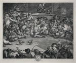 """Cock Fight"", original lithograph"