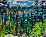 "Llewellyn Petley-Jones, ""Howe Sound, BC"", oil on canvas, 15x19in."